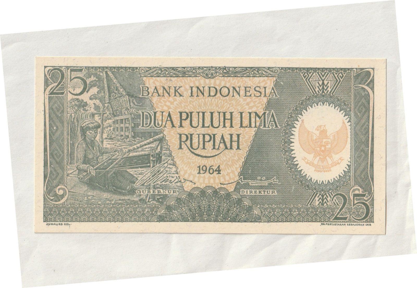25 Rupie, 1964, Indonésie