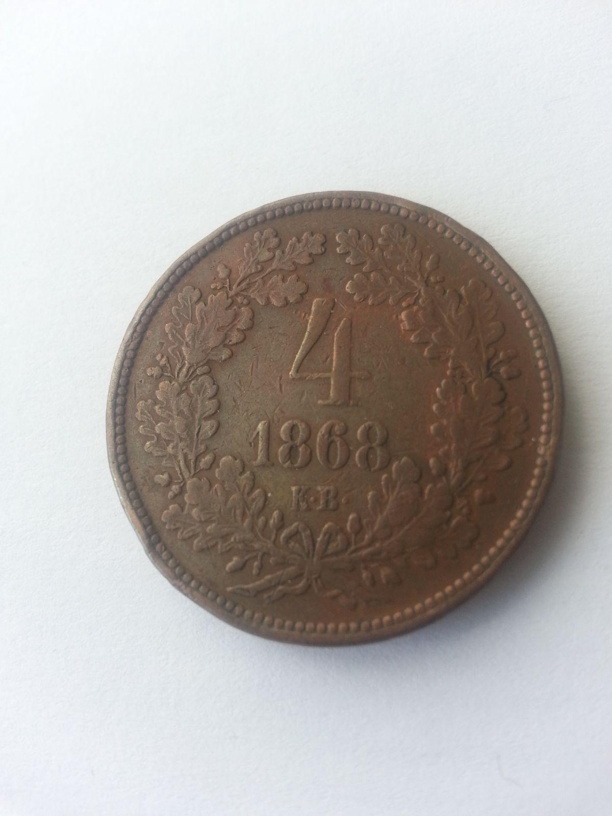 4 Krejcar, 1868, KB, Uhry