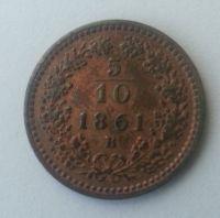 5/10 Krejcar, 1861, B, Uhry