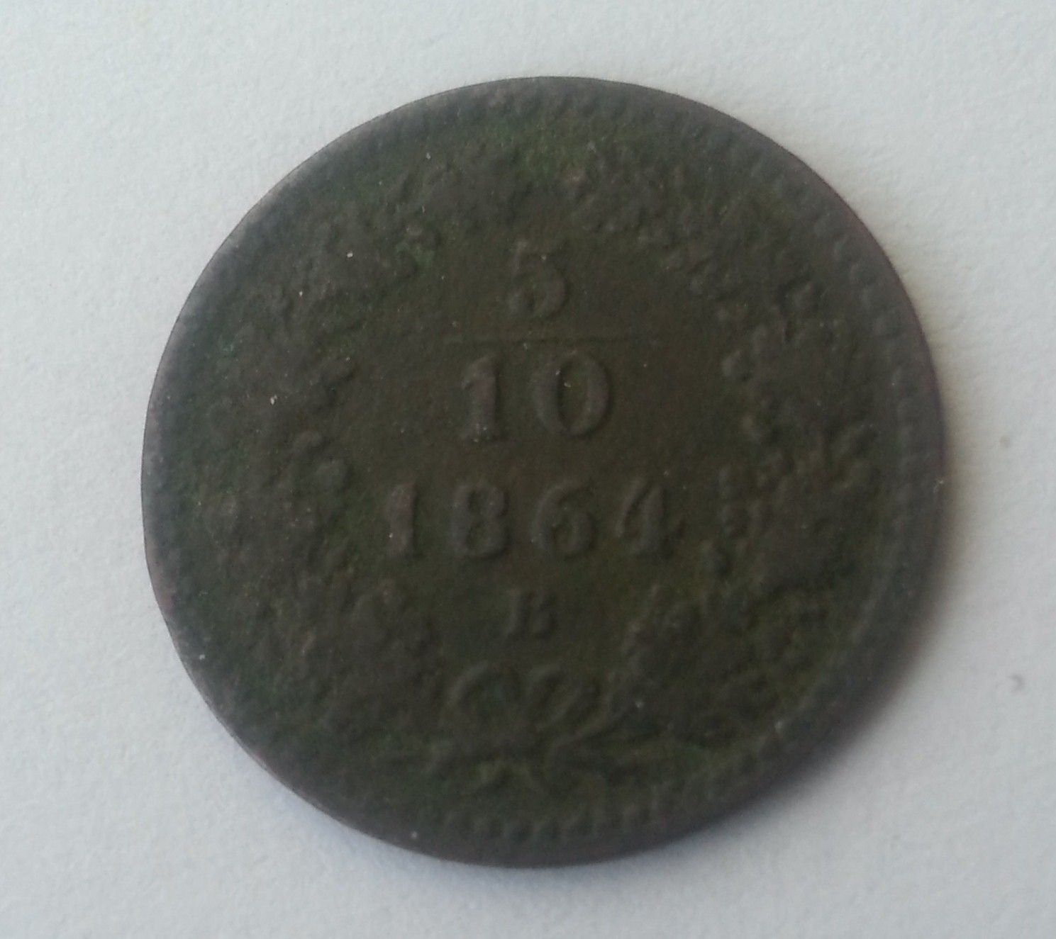 5/10 Krejcar, 1864, B, Uhry
