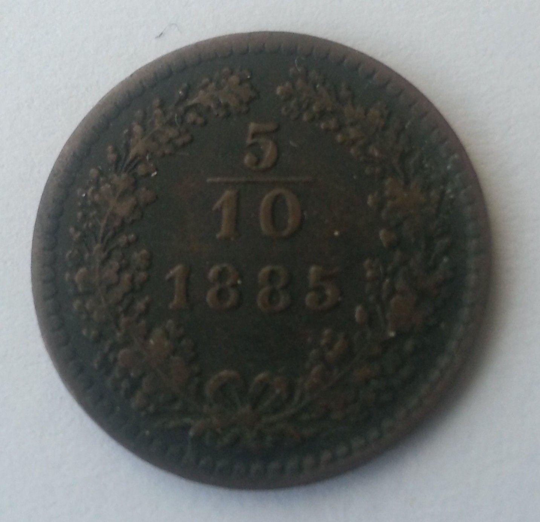 5/10 Krejcar, 1885, Rakousko
