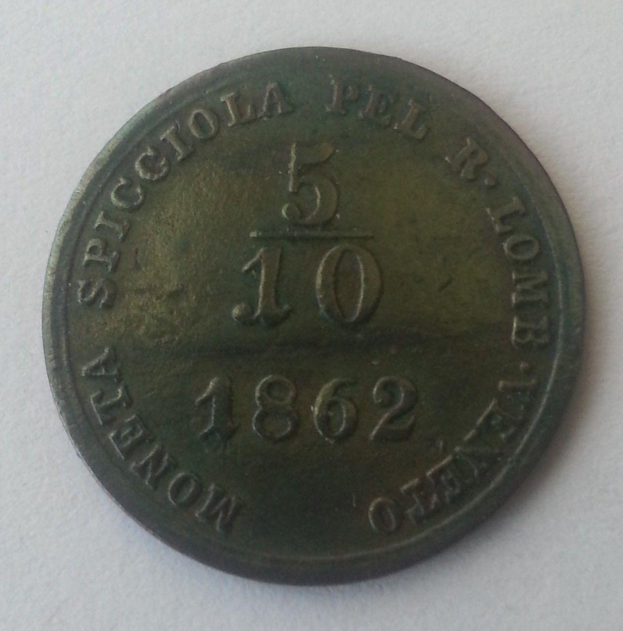 5/10 Soldo, 1862, A, Rakousko