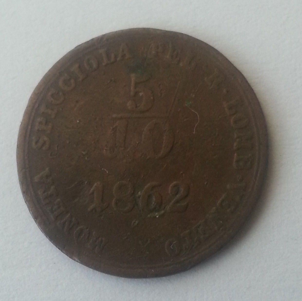 5/10 Soldo, 1862, B, Uhry