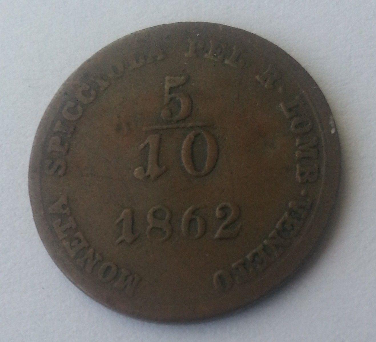 5/10 Soldo, 1862, V, Rakousko