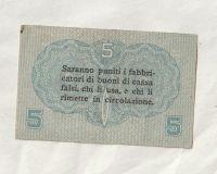 5 Centesini, 1918, Itálie