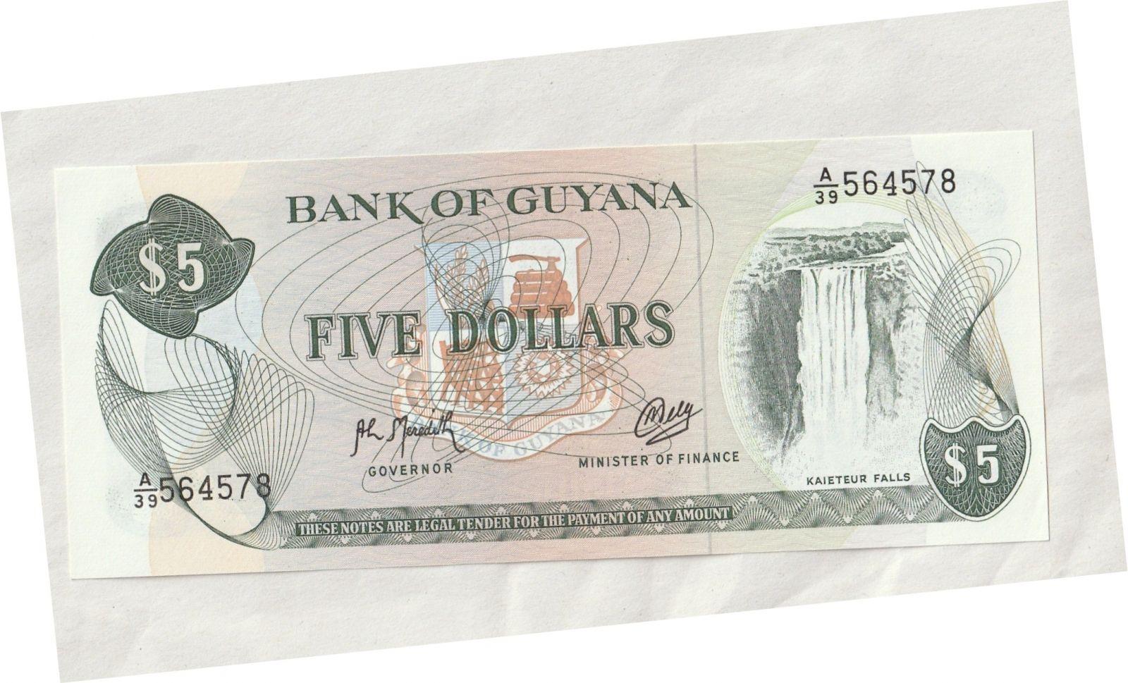5 Dollar, jeřáb, Guyana