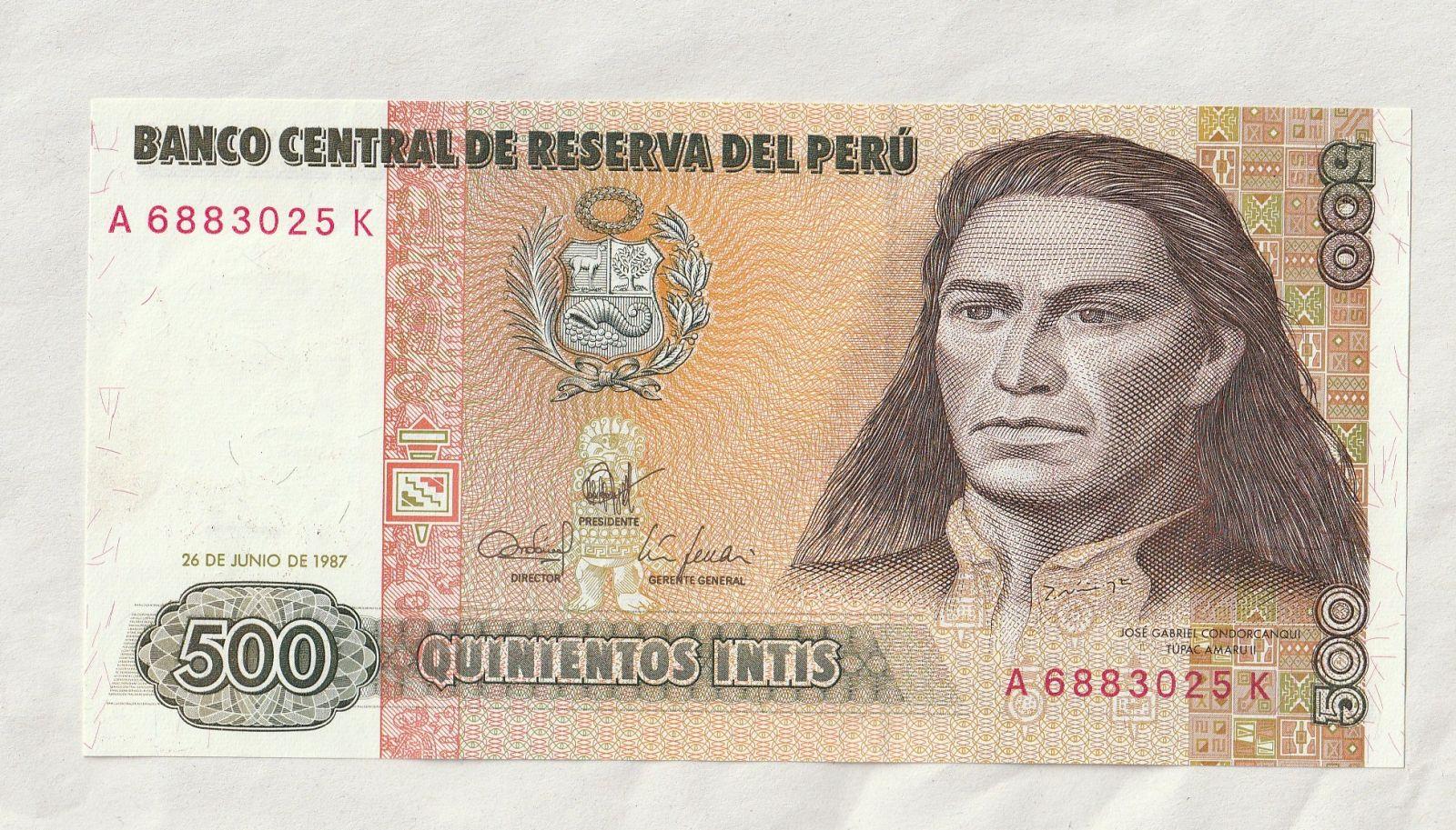 500 Intis, 1987, Peru