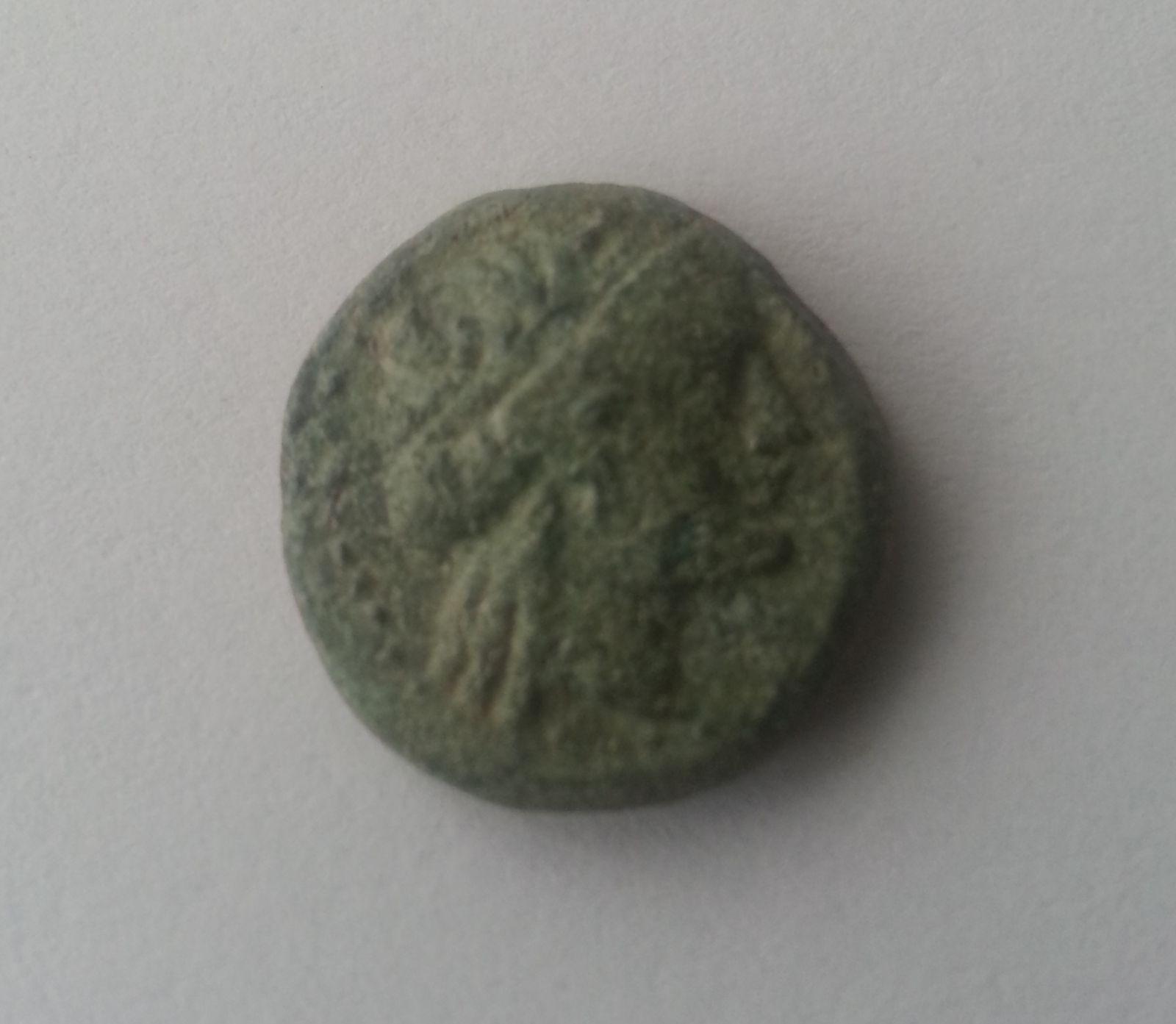 AE-15, hlava Apolla, 200 př.n.l., Řecko-Odessos