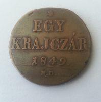 Egy Krejcar, 1849, N.B., Uhry