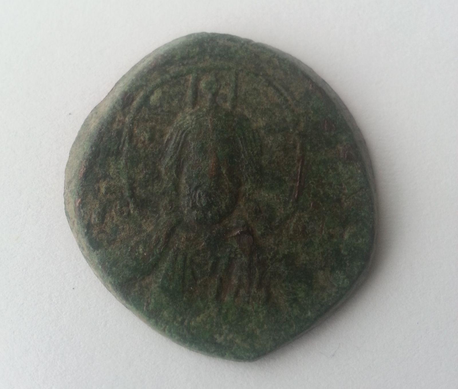 Follis anonymní, poprsí Krista, Basil II. a Constantin VIII., 976-1025, S:1813, Byzanc
