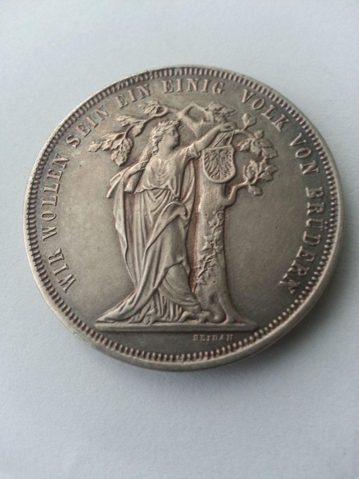 Tolar, 1868, značená KOPIE 21,45 gr., střelecký