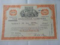 USA-akcie Anaconda company, 1974, USA