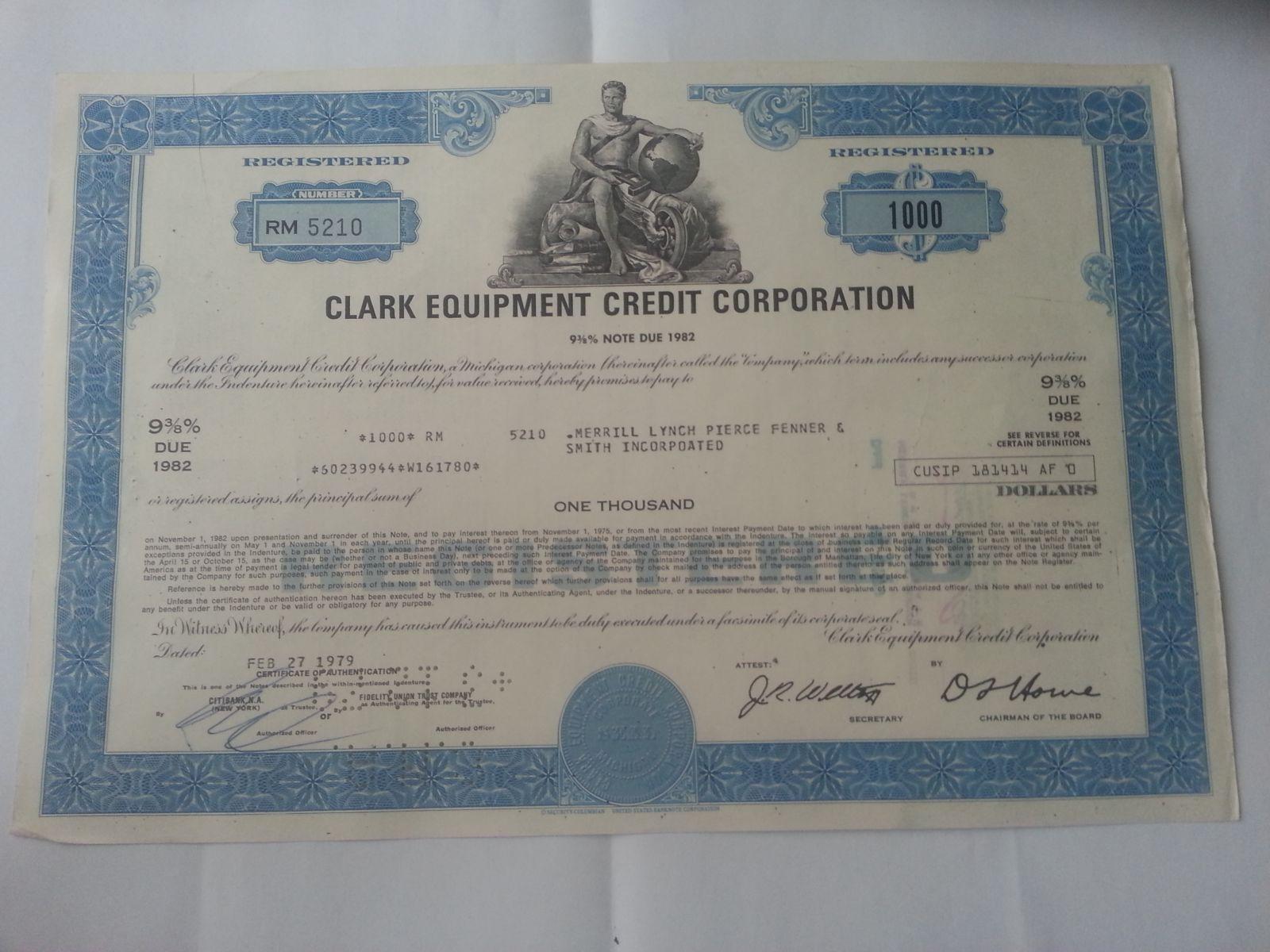 USA-akcie- Clark equipment, 1979, USA