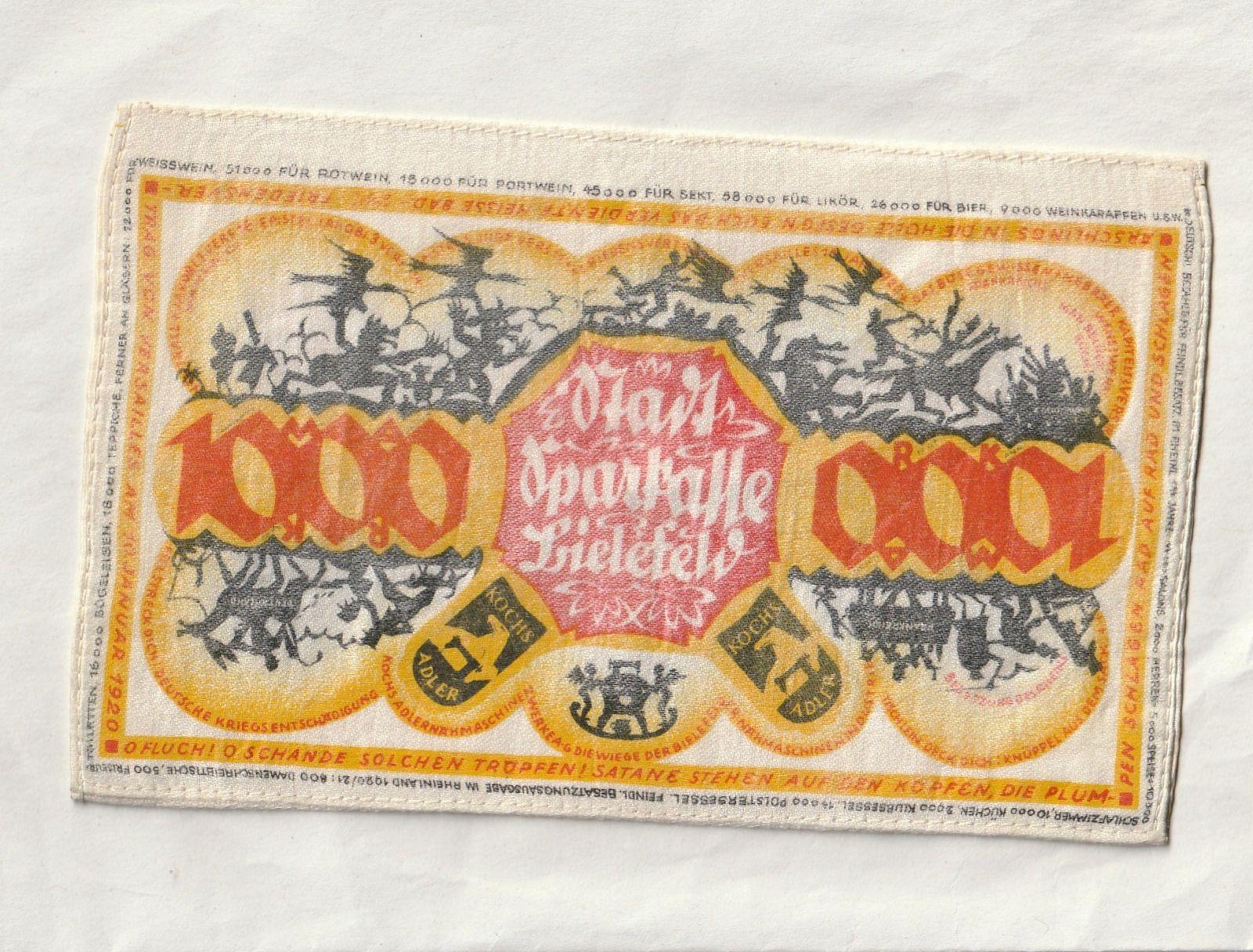 1000 Marek, Bienfeld, hedvábí, Německo