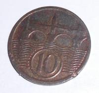 ČSR 10 Haléř 1929 stav