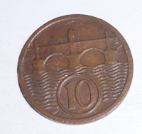 ČSR 10 Haléř 1930 stav