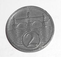 ČSR 2 Haléř 1923 stav
