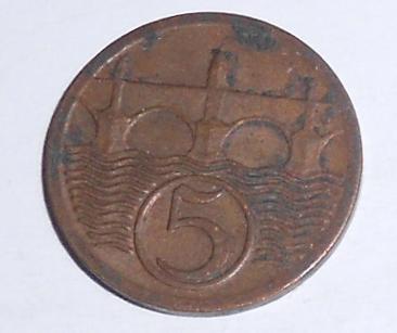 ČSR 5 Haléř 1923