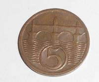 ČSR 5 Haléř 1925 stav