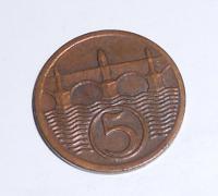 ČSR 5 Haléř 1927 stav