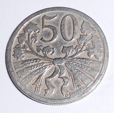 ČSR 50 Haléř 1924
