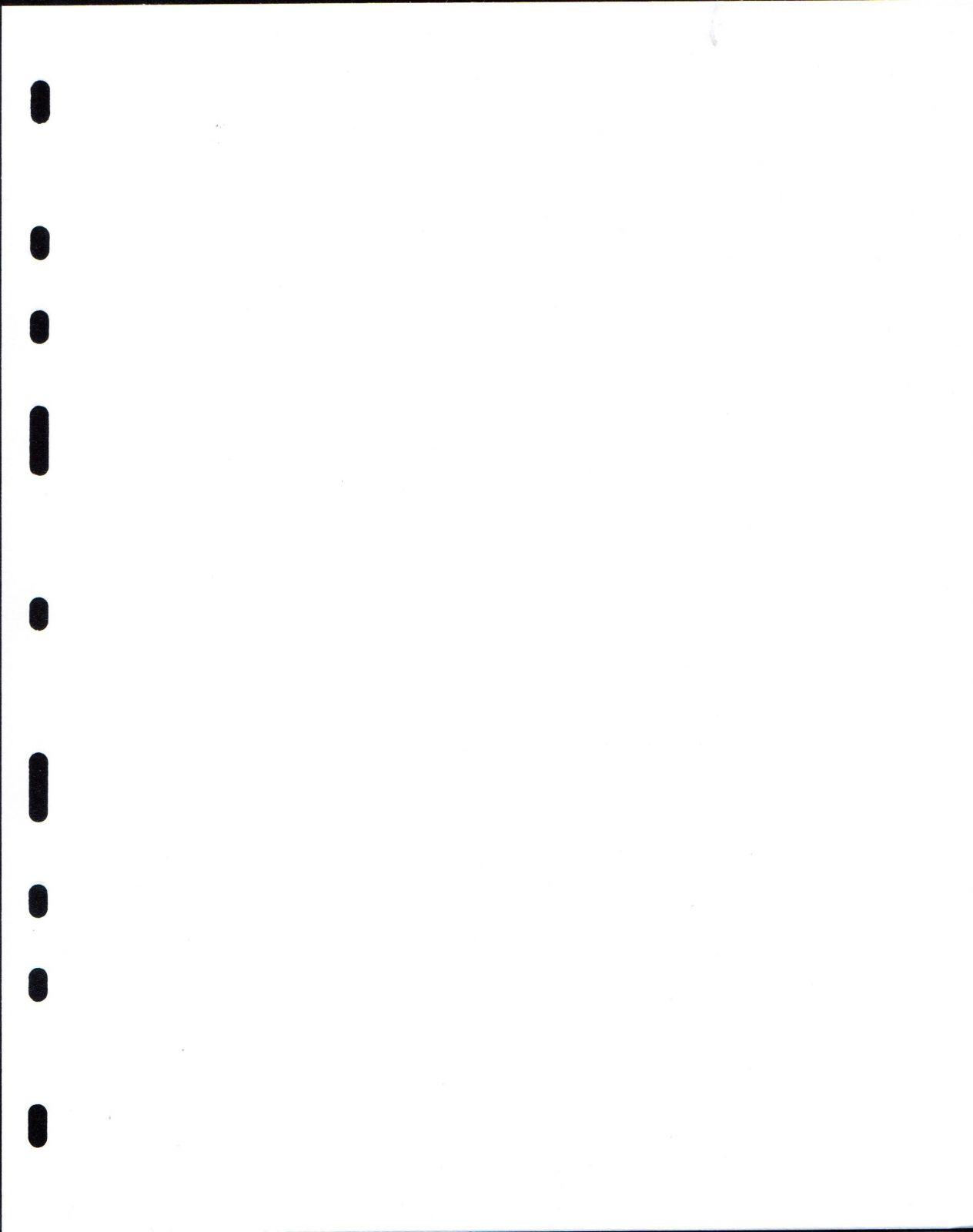 List dělící do alba na bankovky, bílý