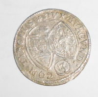 Tyroly-Hall 3 Krejcar 1642 arcivévoda Ferdinand Karel