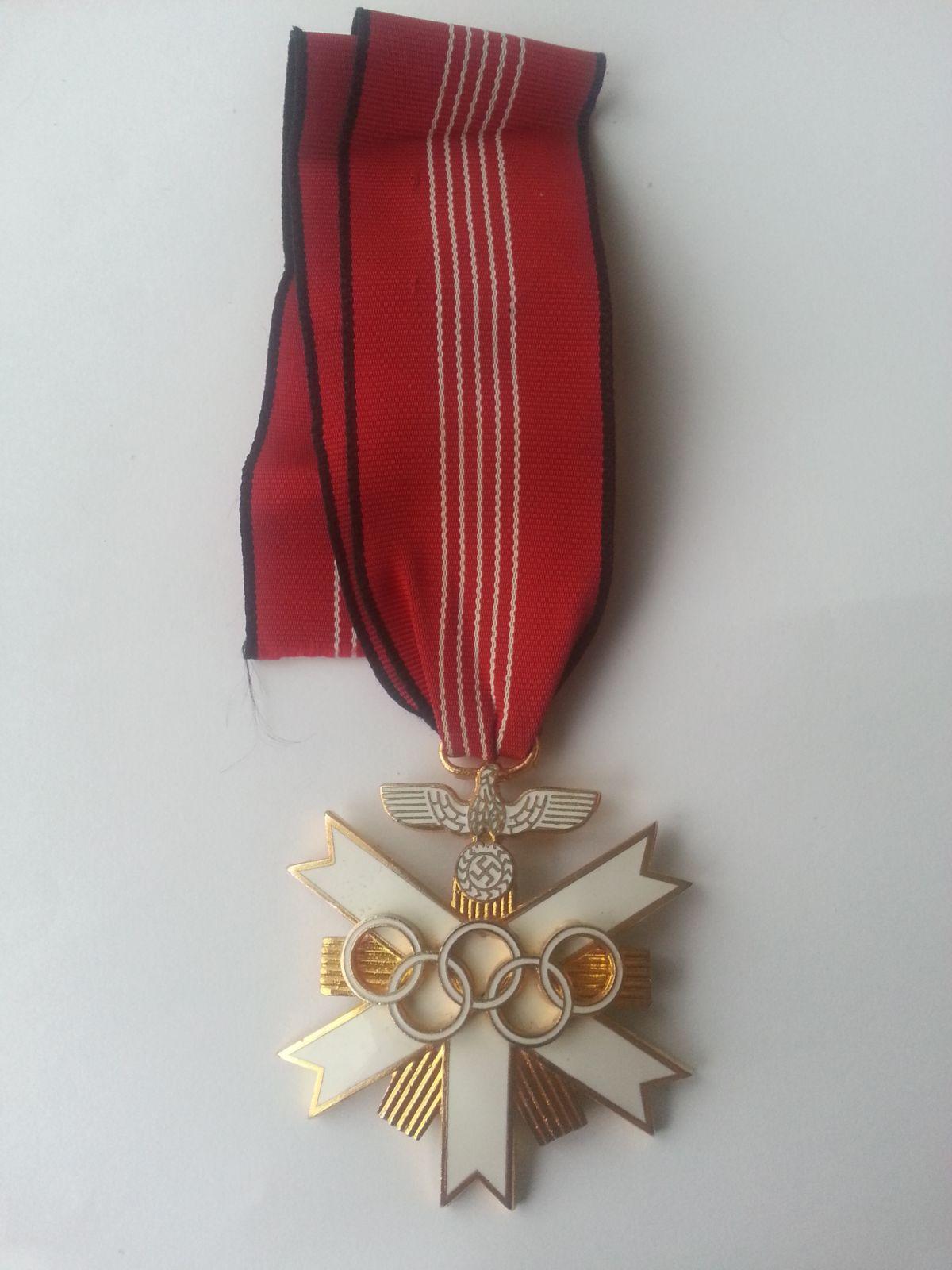 záslužný kříž na olympijských hrách, III. Říše, Německo - KOPIE