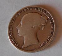 Anglie 1 Schilling 1866 Viktorie