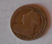 Anglie 3 Pence 1895 Viktorie