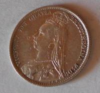 Anglie 6 Pence 1892 Viktorie