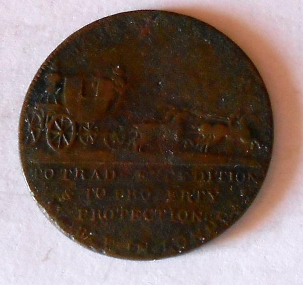 Anglie Tohen 1760-1820 Jiří III. Dostavník bez let.