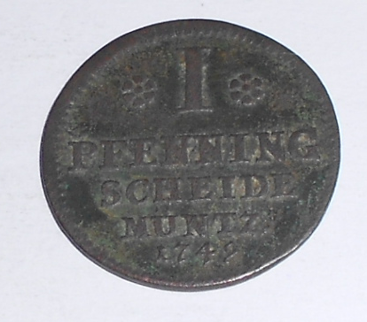 Braunschweig-Wolfenbüttel 1 Pfenik 1749
