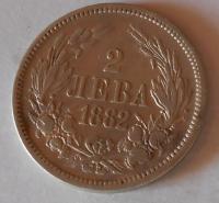 Bulharsko 2 Leva 1882
