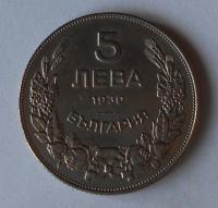 Bulharsko 5 Leva 1930