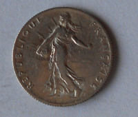 Francie 50 Centimes 1916
