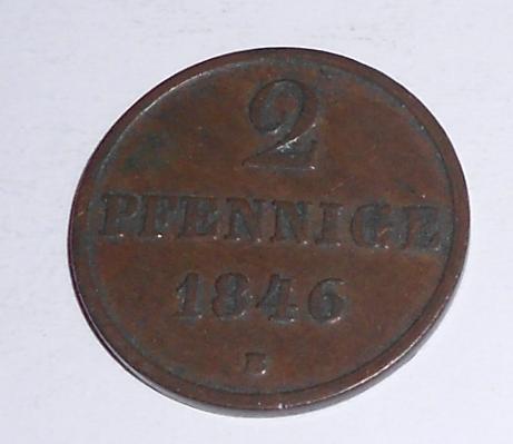 Hannover 2 Pfenik 1846 B