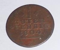 Hessen-Cassel 1 Pfenik 1804 F