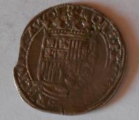 Holandsko-2 Wolle 6 Stuiver 1601 s titulem Rudolfa II.