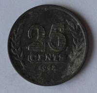 Holandsko 25 Cent 1942