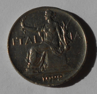 Itálie 1 Lira 1922