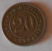 Itálie 20 Centesimi 1894