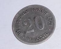 Německo 20 Pfenik 1874 F
