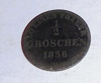 Oldenburg 1/2 Groš 1858 B