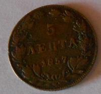 Řecko 5 Lepta ?? 1857