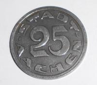 Achen-Německo 25 Pfenik 1920 stav
