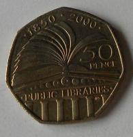 Anglie 50 Pence 2000