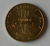 Džibutty 10 Frank 1999