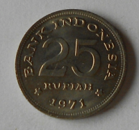 Indonésie 25 Rupie 1971