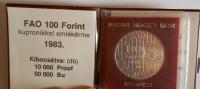 Maďarsko 100 Jorint + etue 1983
